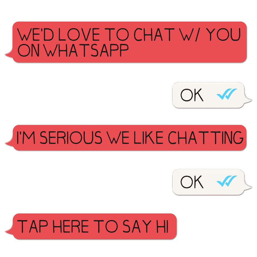 you can tap here to message us on whatsapp!